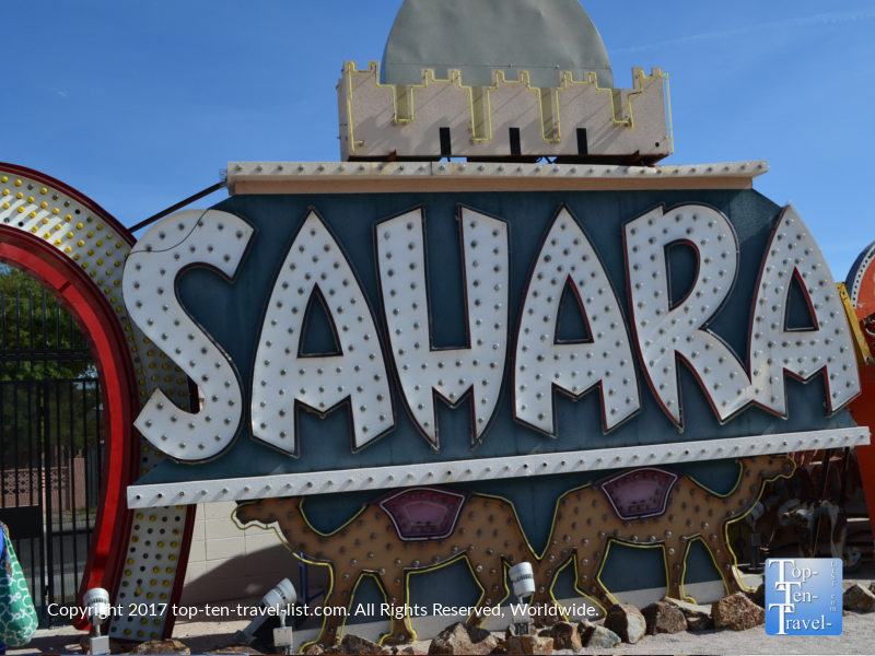 Sahara sign at the Neon Boneyard in Las Vegas NV