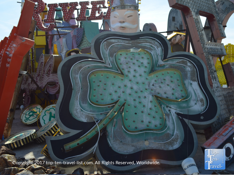 Vintage Fitzgerald's Shamrock at the Neon Boneyard in Las Vegas NV