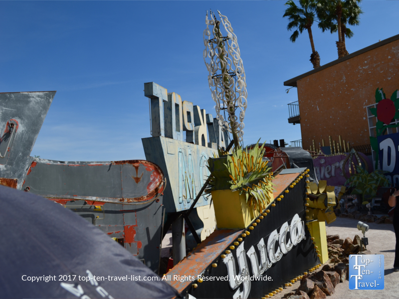 Yucca sign at the Neon Boneyard in Las Vegas NV