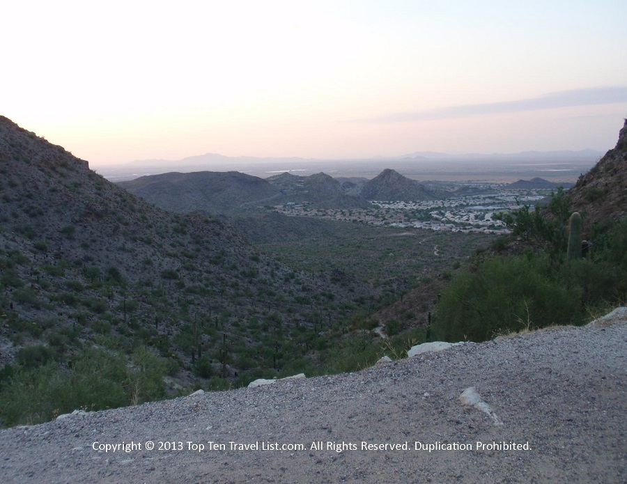 Sunrise hike at beautiful Camelback Mountain in Phoenix, Arizona