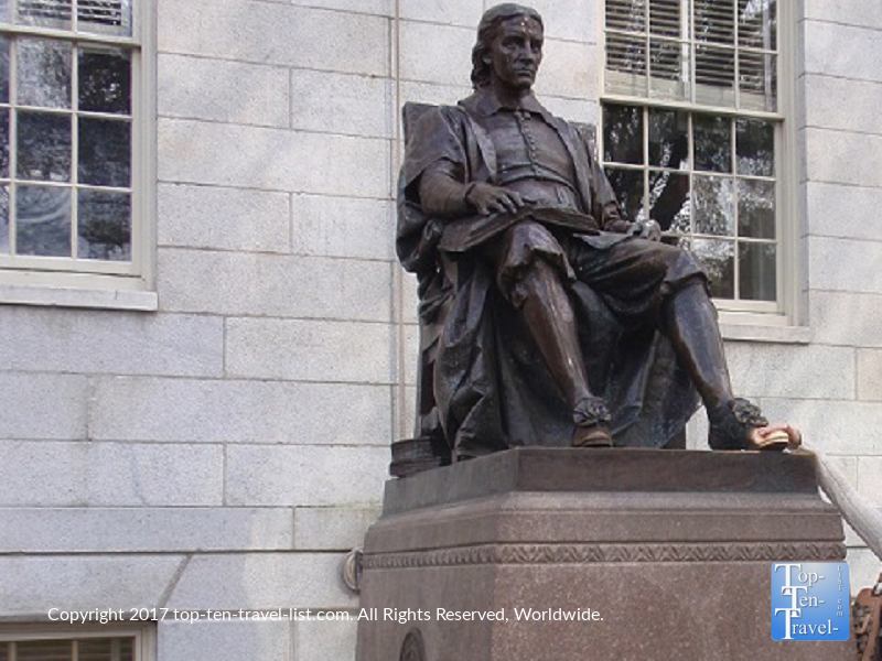 "John Harvard Statue - ""the statue of 3 lies"""