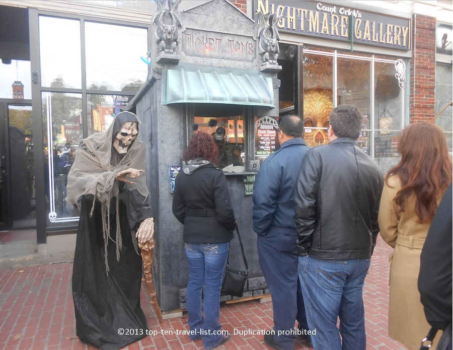 Count Orlok's Nightmare Gallery horror wax museum in Salem, MA