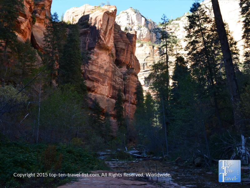 Great views along the West Fork trail in Sedona, Arizona