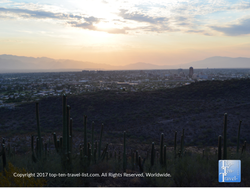 A beautiful Tucson sunrise from Tumanoc Hill