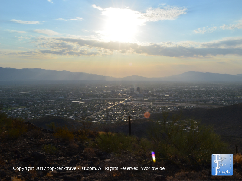 A scenic overlook of Tucson from the top of Tumanoc Hill