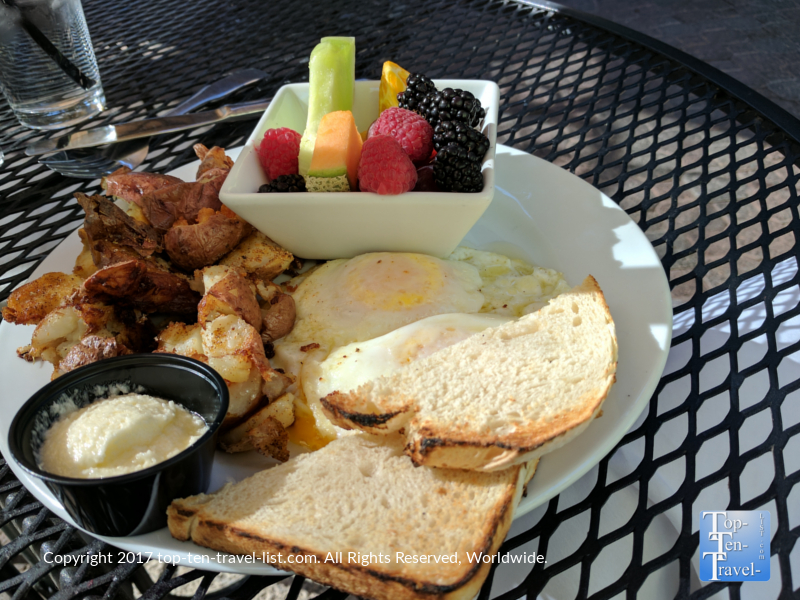 Delicious breakfast plate at Tohono Chul Garden Bistro in Tucson AZ
