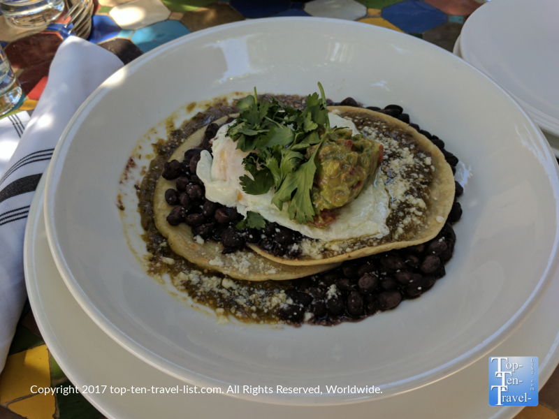 Huevos Rancheros at Agustin Kitchen in Tucson AZ