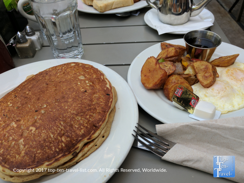 Pancakes and eggs at Cup Cafe at Hotel Congress in downtown Tucson