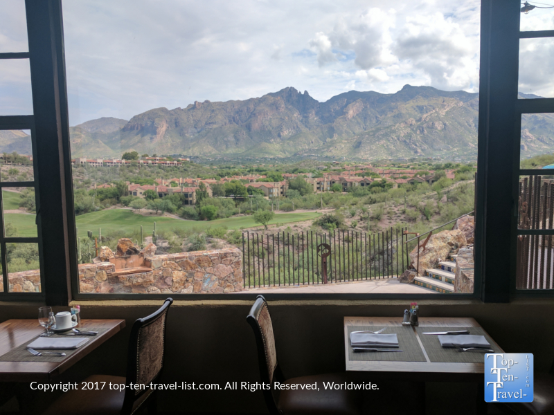Picturesque views at the Grill at Hacienda in Tucson AZ