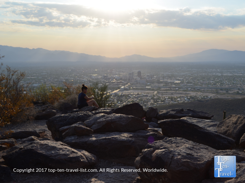 Scenic overlook from the top of Tumanoc Hill in Tucson