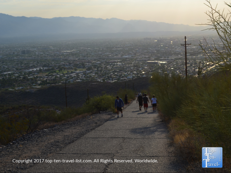 Steep climb up Tumanoc Hill in Tucson