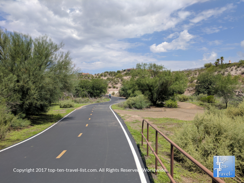 The Rillito River Path in Tucson Arizona