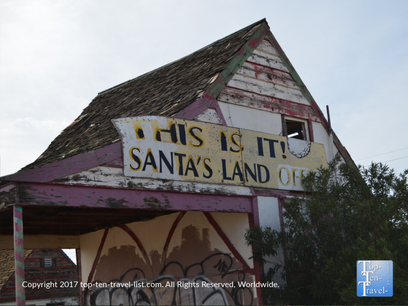 The old Santa Land amusement park in Santa Claus AZ, a ghost town near the Arizona/Nevada border