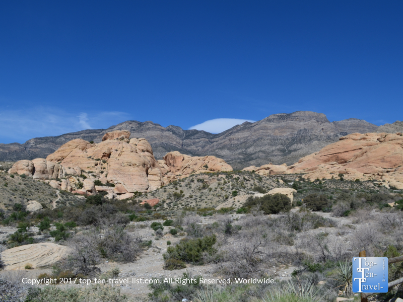 Amazing scenery at Red Rock Canyon in Vegas