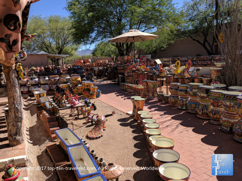 Beautiful Mexican pottery in Tucson AZ
