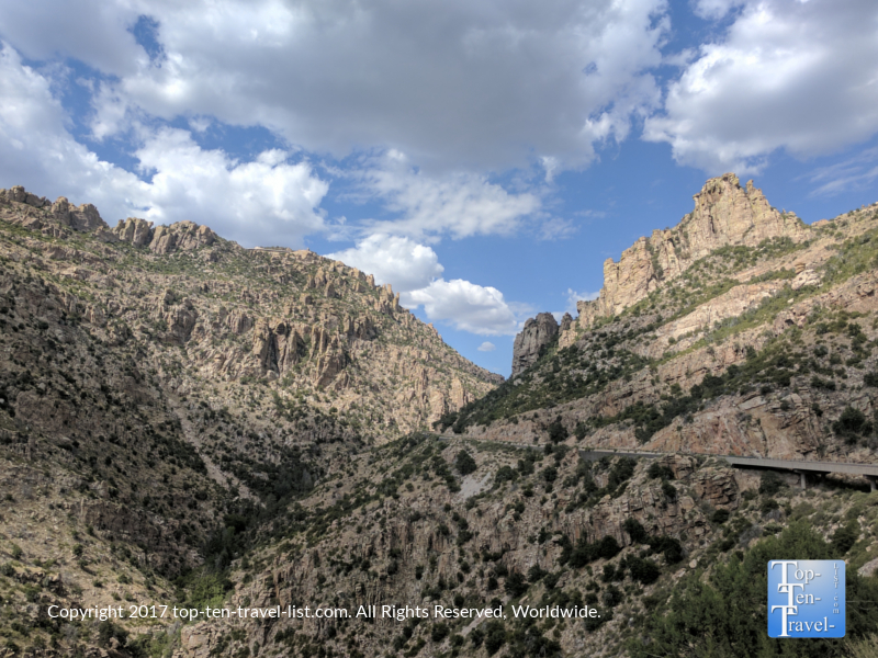 Gorgeous views on the drive up the Mt Lemmon Scenic Byway