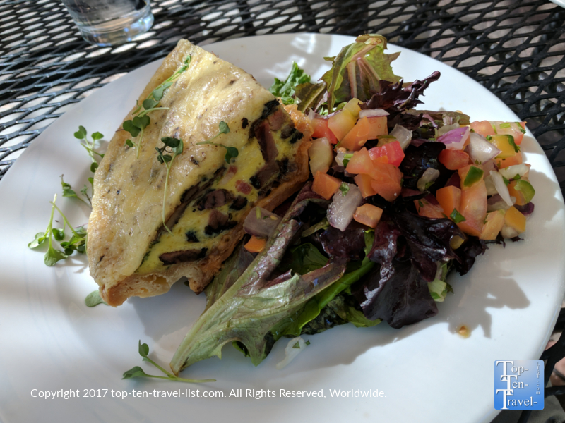Homemade Quiche at Tohono Chul Garden Bistro in Tucson AZ