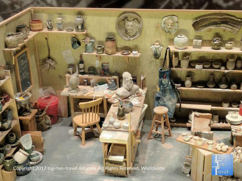 Miniature display at the Mini Time Museum of Miniatures in Tucson AZ