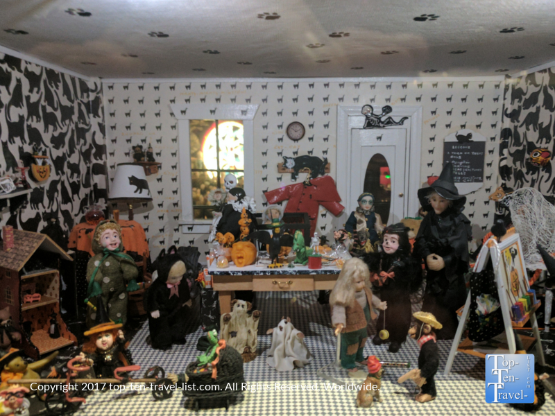 Miniature Halloween display at the Mini Time Museum of Miniatures in Tucson AZ