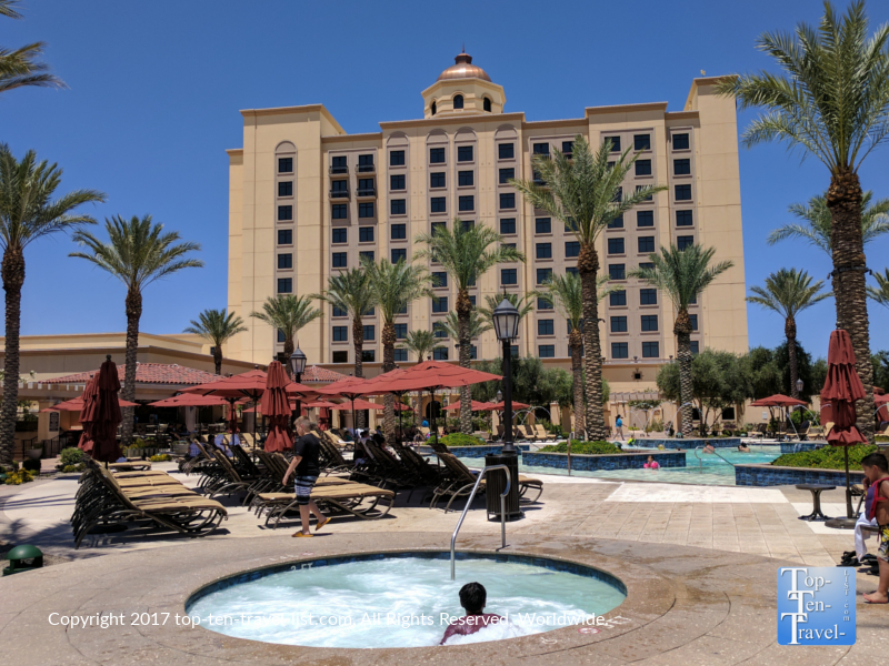 Tropical Pool area of Casino del Sol in Tucson AZ