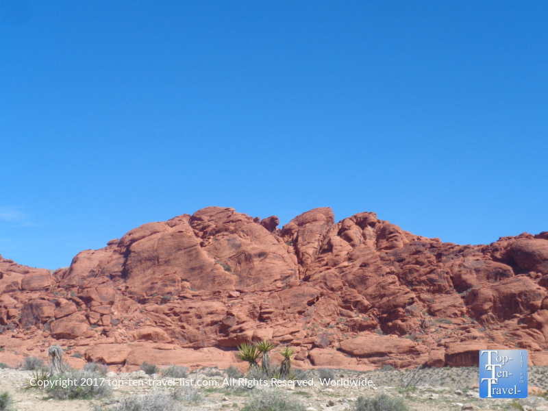 Pretty red rock view at Red Rock Canyon in Vegas