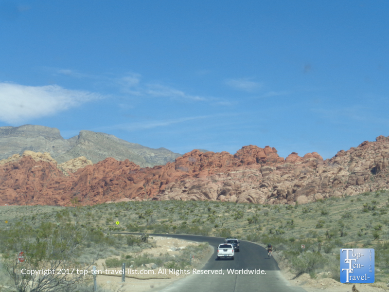 Scenic drive at Red Rock Canyon in Vegas