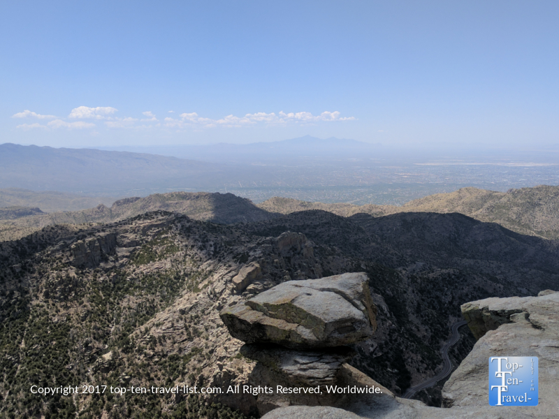 Scenic overlook area on the Mt Lemmon Scenic Byway near Tucson