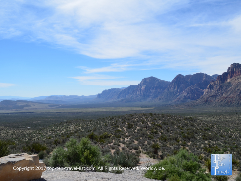 Stunning views from an overlook at Red Rock Canyon in Vegas