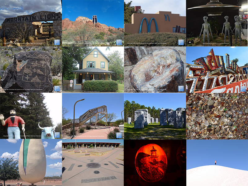 Strange & unusual attractions in the United States
