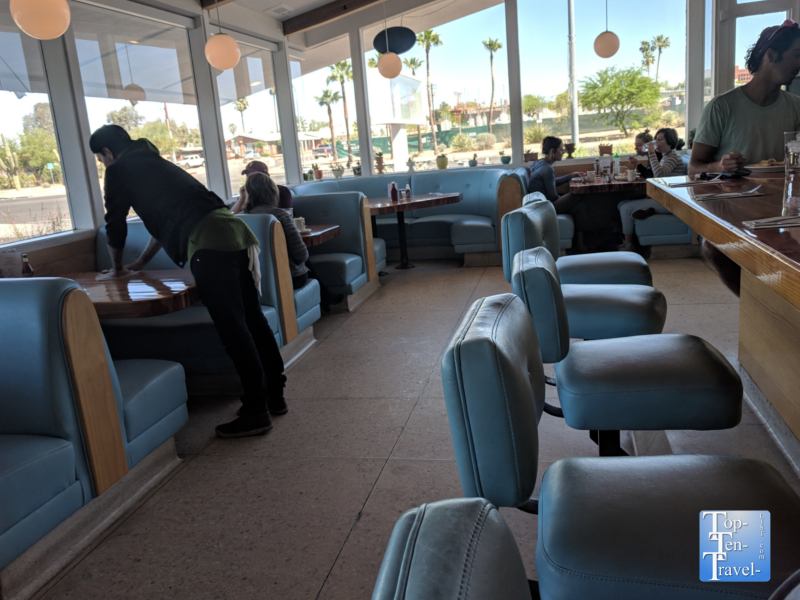 50's style vibe at Welcome Diner in Tucson, Arizona