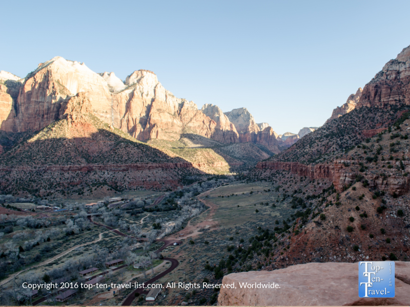 Beautiful views from the Emerald Pools trail at Zion National Park