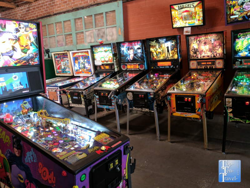 D and D Pinball in downtown Tucson, Arizona