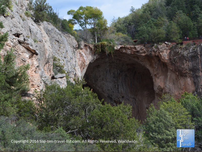 Largest natural travertine bridge at Tonto Natural Bridge State Park