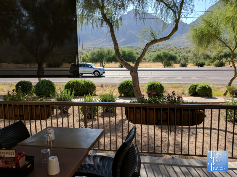 Patio dining at First Watch in Tucson, Arizona