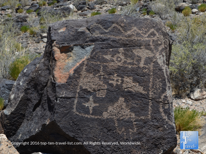 Unique Petroglyph at Petroglyph National Monument in Albuquerque NM