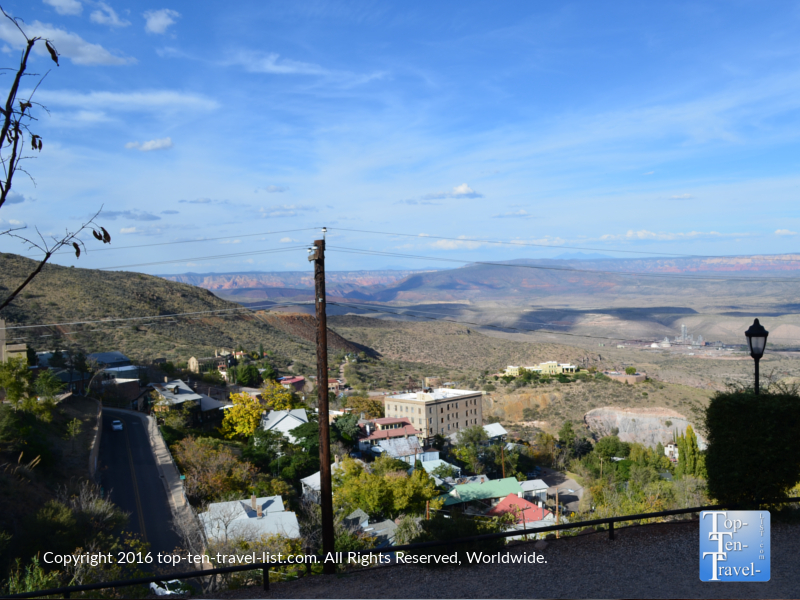 Picturesque views from The Asylum Restaurant in Jerome AZ