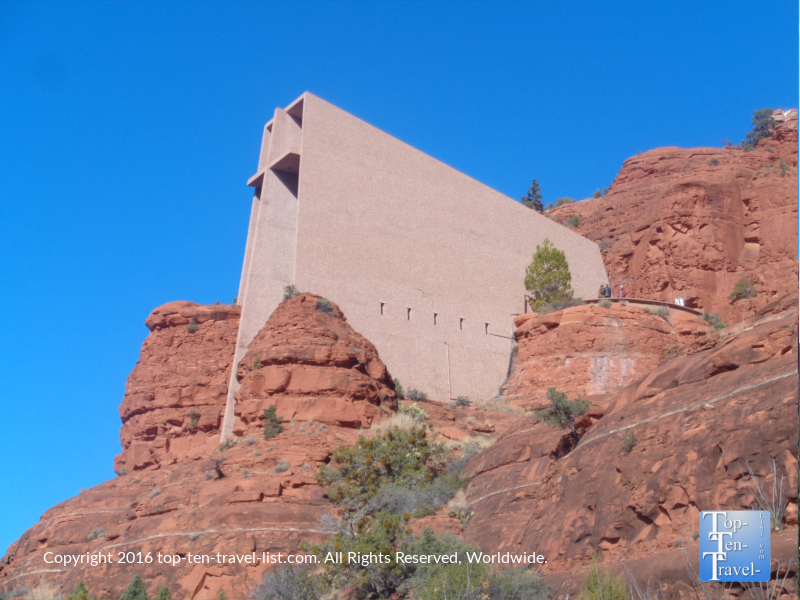 The Chapel of the Holy Cross built into Sedona's red rocks