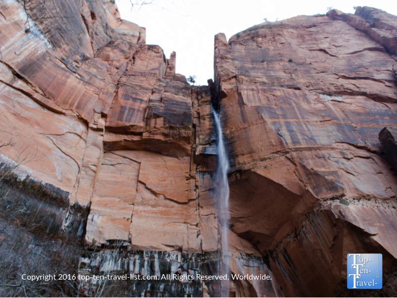 Upper Emerald Pools waterfall at Zion National Park