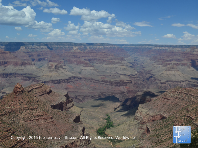 Views of the Grand Canyon from an overlook at the South Rim