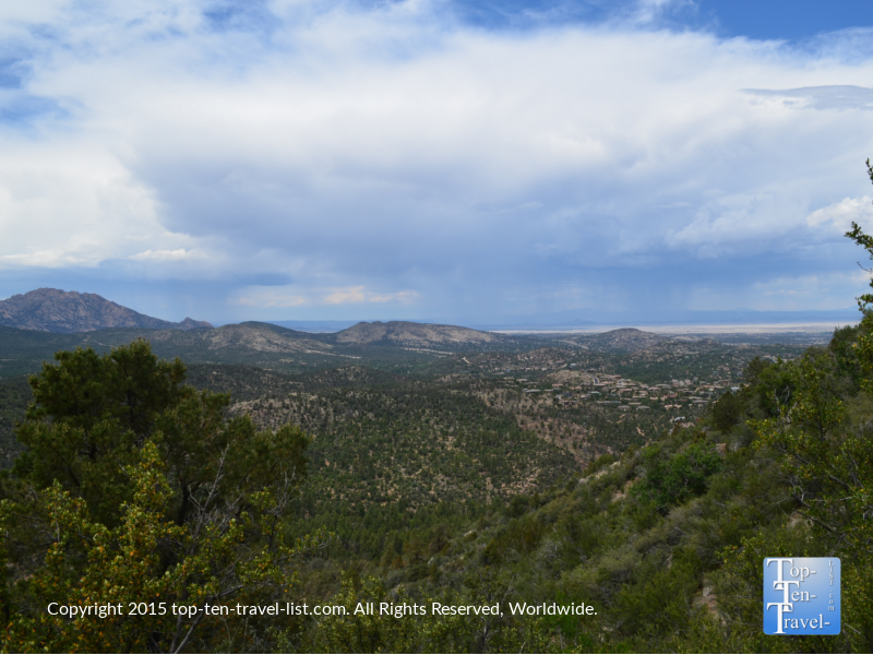 Hiking up beautiful Thumb Butte in Prescott, Arizona