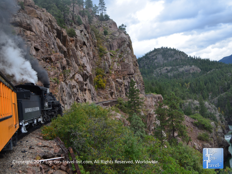 Amazing scenery along the Durango & Silverton Narrow Gauge train ride