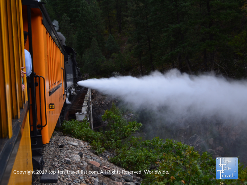 The historic steam powered Durango & Silverton Narrow Gauge train