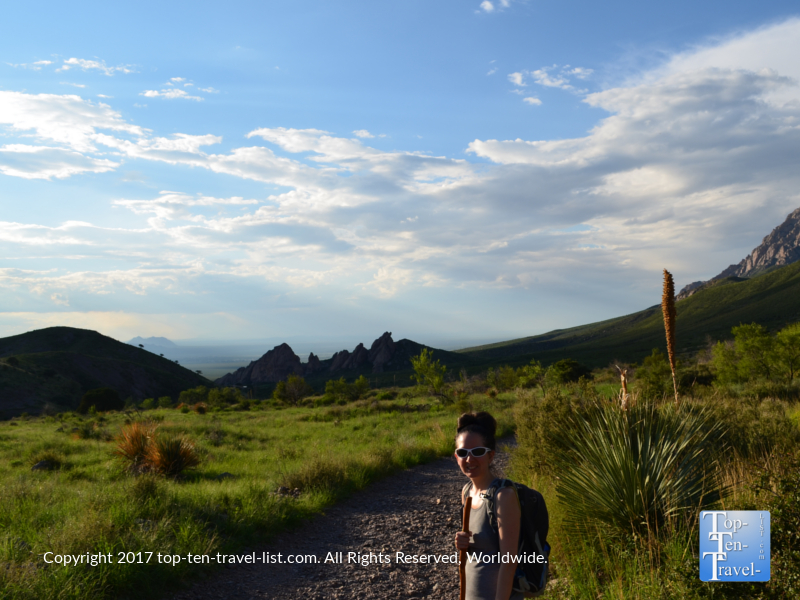Hiking the Dripping Springs trail near Las Cruces, NM