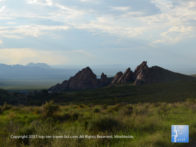 Mountain scenery along the Dripping Springs trail near Las Cruces, NM