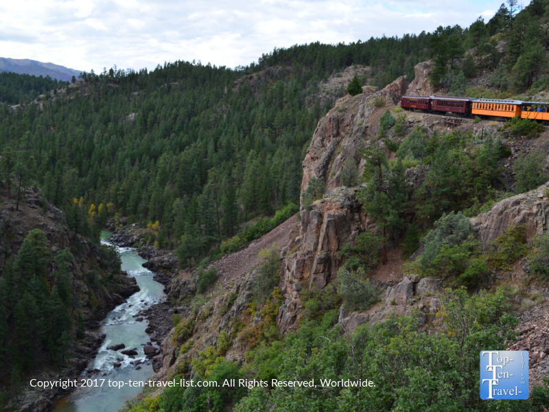 Amazing views from the Durango & Silverton Narrow Gauge Railroad train ride