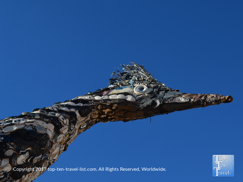 Roadrunner statue in Las Cruces, New Mexico