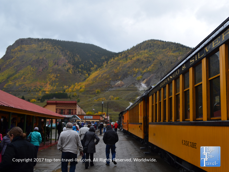 Silverton Depot for the Durango & Silverton Narrow Gauge train ride