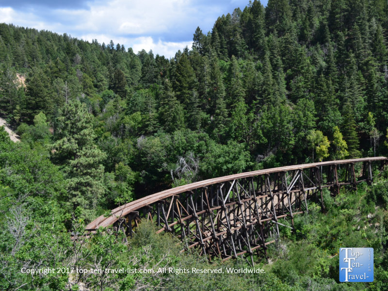 Mexican canyon trestle viewed from the scenic drive US 82 in New Mexico