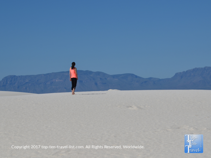 Enjoying the views at White Sands National Monument in New Mexico
