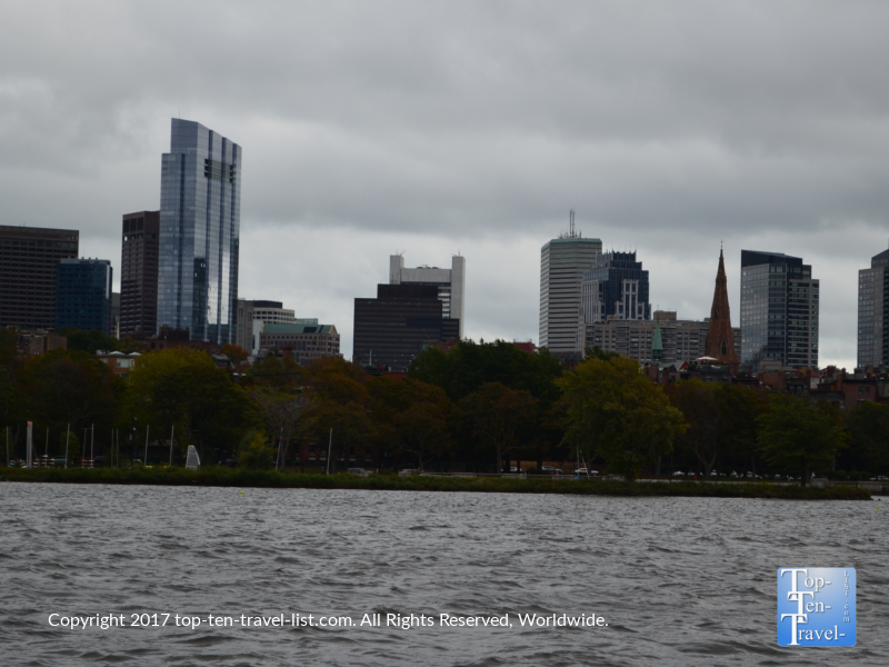 Views of the beautiful Boston architecture from a Charles River cruise